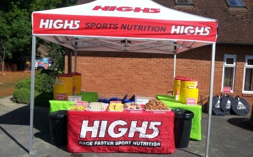 image of High5 nutrition stand